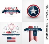 vector set of 4th july american ... | Shutterstock .eps vector #279262703