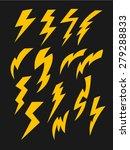 vector set of thunder lighting... | Shutterstock .eps vector #279288833