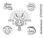 Set Of Vintage Seafood Logos...
