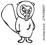 beaver icon | Shutterstock .eps vector #279298847