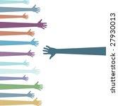 set of pastel colored hands... | Shutterstock .eps vector #27930013