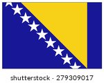 bosnia and herzegovina flag  | Shutterstock .eps vector #279309017
