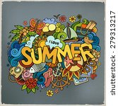 summer hand lettering and... | Shutterstock .eps vector #279313217