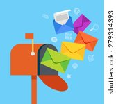 e mail concept . marketing e... | Shutterstock .eps vector #279314393