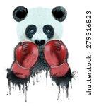 Panda Illustration Boxer Panda...