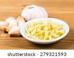 Chopped Garlic In A Plate With...