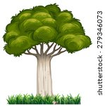 Closeup Single Tree With Grass...
