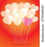 paper heart shapes | Shutterstock .eps vector #279349547