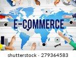 e commerce online networking... | Shutterstock . vector #279364583