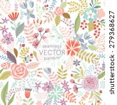seamless floral colorful hand... | Shutterstock .eps vector #279368627