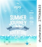 summer journey poster with... | Shutterstock .eps vector #279368633