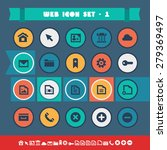 modern flat material web icons...