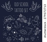 old school tattoo set. cartoon... | Shutterstock .eps vector #279372713