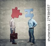 Small photo of abstract image of business people affinity concept