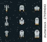 flat sci fi futuristic alien... | Shutterstock .eps vector #279394043