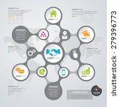 vector info graphic design... | Shutterstock .eps vector #279396773