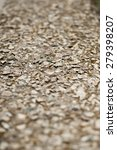 Small photo of Slabs of rock debris at an acute angle background blur