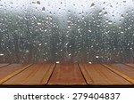 Rain Drops On Glass Window...