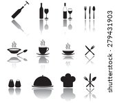 kitchen tool icons set. food... | Shutterstock . vector #279431903