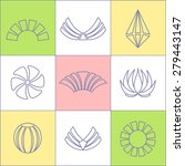 set of business icons contour... | Shutterstock . vector #279443147