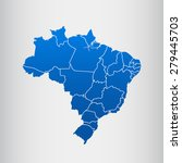 map of brazil | Shutterstock .eps vector #279445703