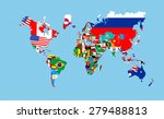 world countries flags map... | Shutterstock . vector #279488813
