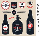 set of vintage craft beer... | Shutterstock .eps vector #279498563