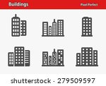 buildings icons. professional ... | Shutterstock .eps vector #279509597
