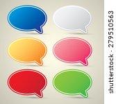 color vector paper speech... | Shutterstock .eps vector #279510563