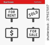 real estate icons. professional ... | Shutterstock .eps vector #279527057