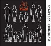 family outline icons on black... | Shutterstock .eps vector #279539603