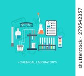 the chemical background  banner ... | Shutterstock .eps vector #279542357