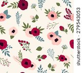 beautiful seamless pattern with ... | Shutterstock .eps vector #279543053