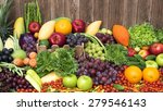nutritious fruit and vegetables ... | Shutterstock . vector #279546143
