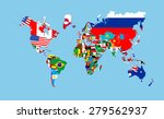world countries flags map... | Shutterstock . vector #279562937