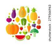 healthy lifestyle design... | Shutterstock .eps vector #279566963