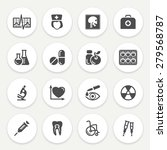 medicine black icons with... | Shutterstock .eps vector #279568787