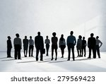 corporate business team... | Shutterstock . vector #279569423