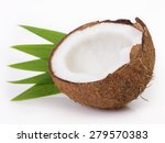 coconut isolated on white... | Shutterstock . vector #279570383