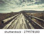 old boardwalk by the ocean.... | Shutterstock . vector #279578183