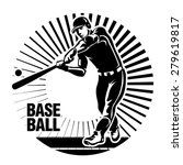 baseball player hits a ball.... | Shutterstock .eps vector #279619817
