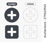 plus sign icon. positive symbol.... | Shutterstock .eps vector #279623963