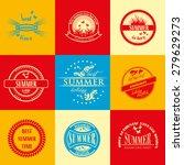 bright summer vacation logo set | Shutterstock .eps vector #279629273