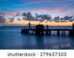 isla mujeres at night ... | Shutterstock . vector #279637103
