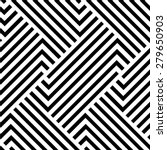 The geometric pattern by stripes . Seamless vector background. Black texture. | Shutterstock vector #279650903