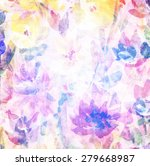 abstract watercolor hand... | Shutterstock . vector #279668987