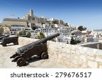 Cathedral And Old Town. Ibiza ...