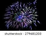 fireworks display on dark sky...   Shutterstock . vector #279681203