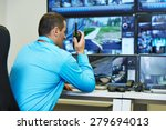 security guard watching video... | Shutterstock . vector #279694013