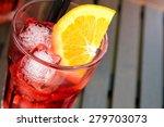 top of view of spritz aperitif... | Shutterstock . vector #279703073